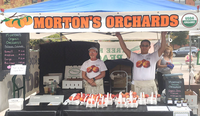 Morton's Orchards fruit stand